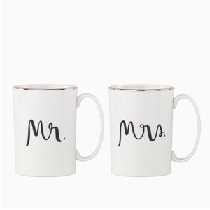 Kate Spade Mr. and Mrs. Cup Set